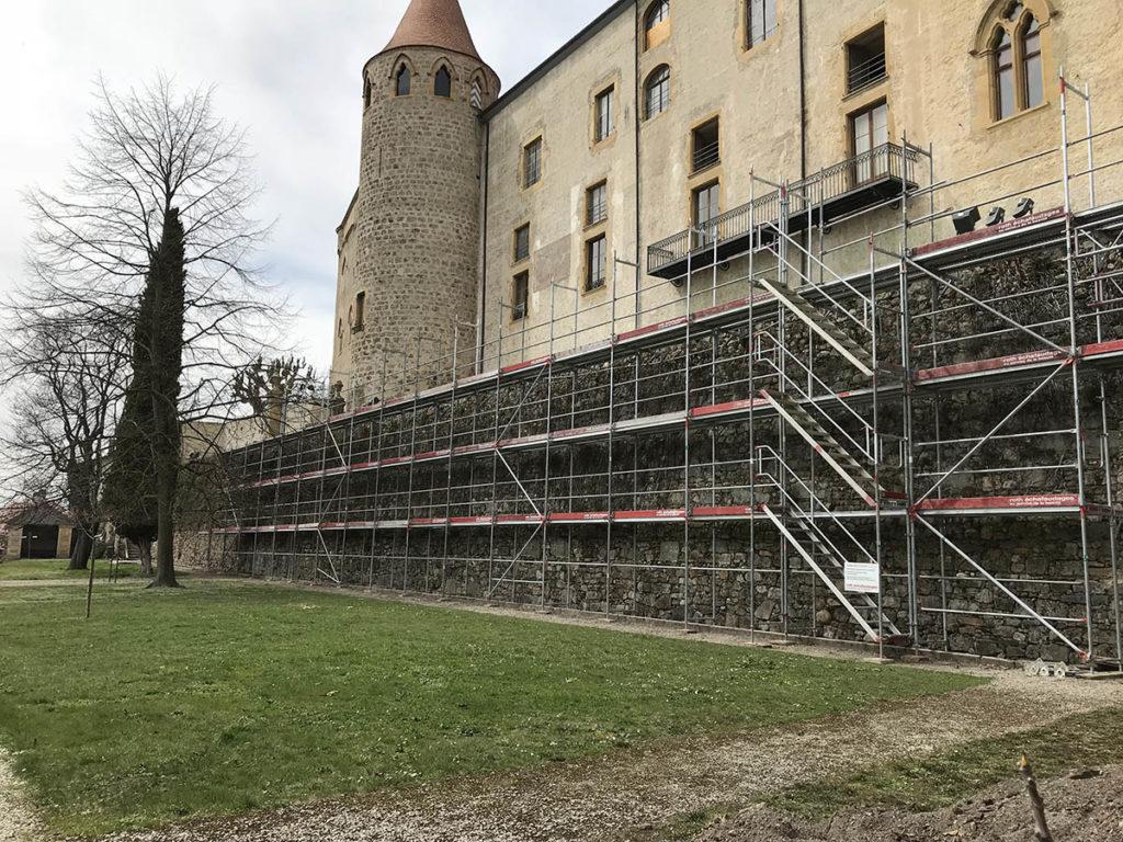 Rénovation château de Grandson