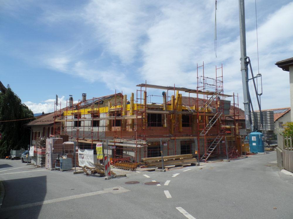 Réalisation d'un immeuble à Penthaz