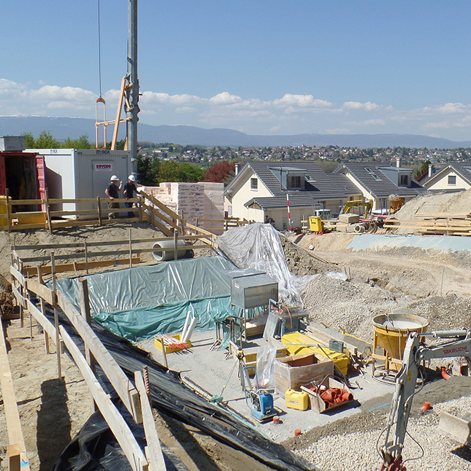 Construction d'une villa à Ecublens