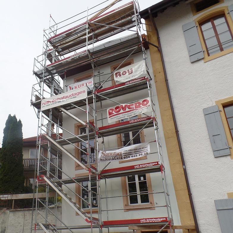 Transformation bâtiment La Grenette Yverdon