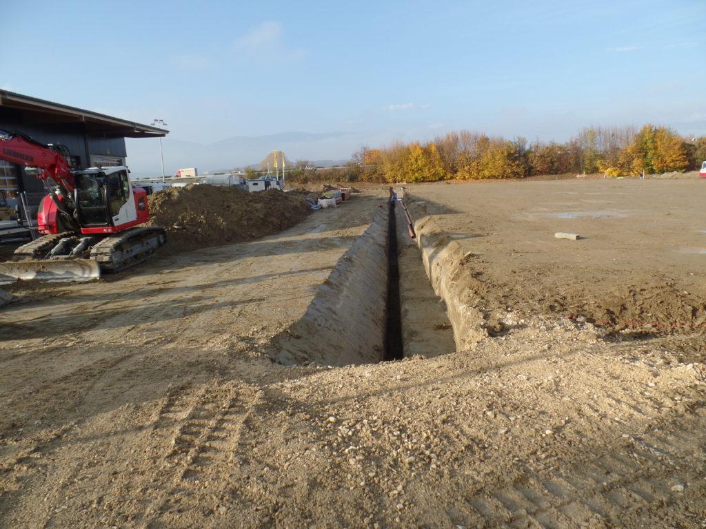 Construction d'une halle à Ependes