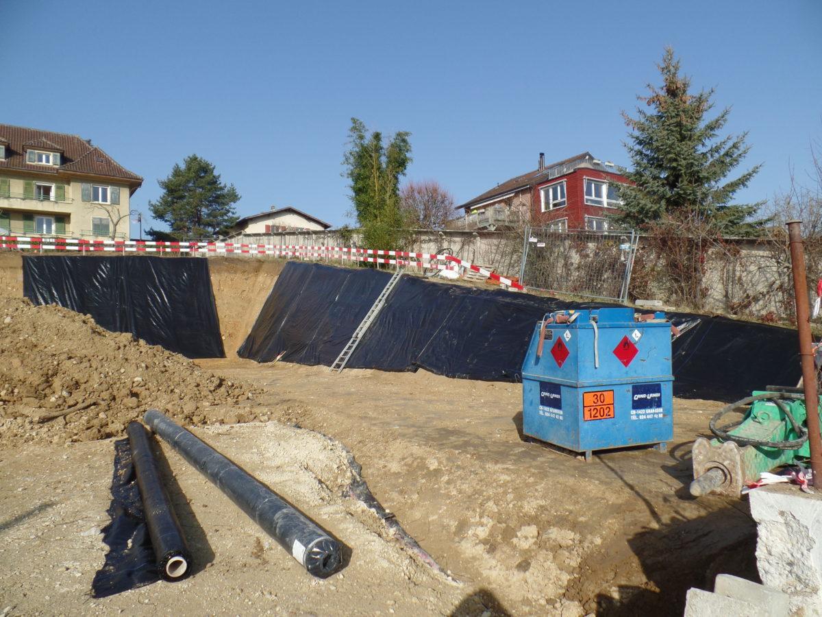 Construction d'un immeuble au chemin du Levant 3 à Orbe